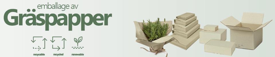 gräspapper emballage