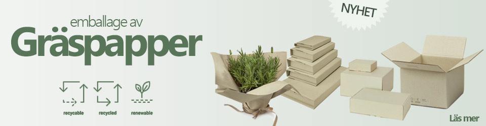 Emballage gräspapper
