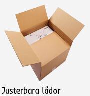 emballage justerbar låda