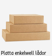 emballage platt låda