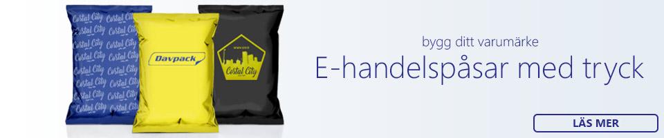 e-handelspåsar med tryck