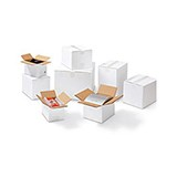 Dubbelwell låda vit