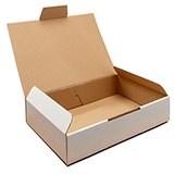 Stansad låda ekonomi vit