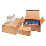 Självlåsande låda brun