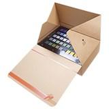Självlåsande låda med förslutningsremsa