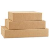 Platt enkelwell låda