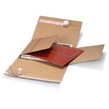 Platt kalenderförpackning brun